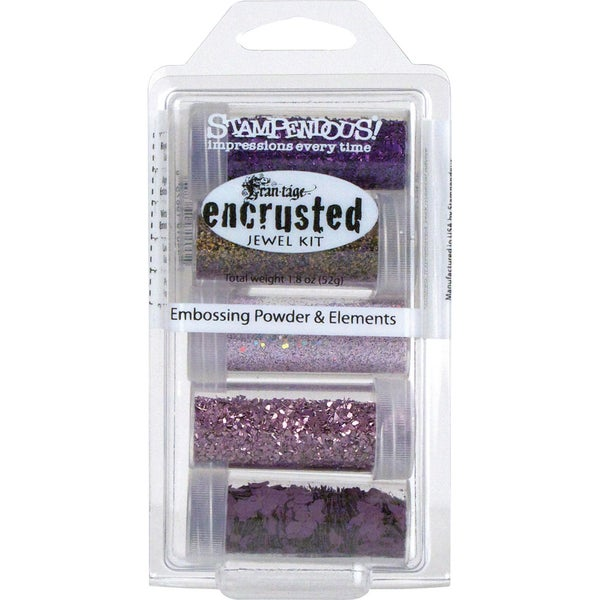 Stampendous Encrusted Jewel Kit-Purple