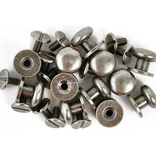 "Treasures Metal Drawer Knobs .375"" 12/Pkg-Antique Silver"