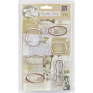 Lifetime Newsprint Decorative Frames 6/Pkg-Assorted Sizes