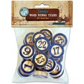 Vintage Collection Bottle Cap Bingo Chips 30/Pkg-Blue