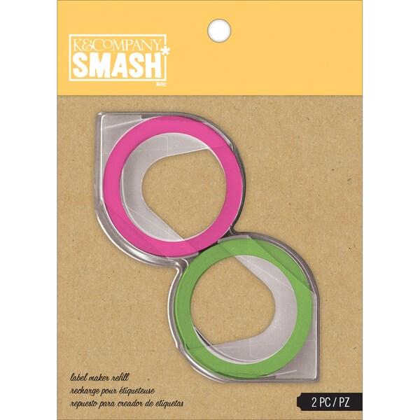 SMASH Green & Pink Label Maker Refills-