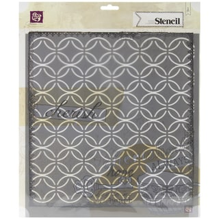 Designer Stencil 12X12in-Circle Lattice