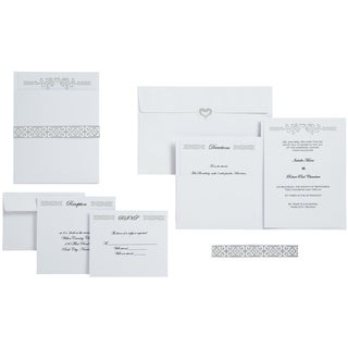 Heart Wedding Pocket Invitation Kit