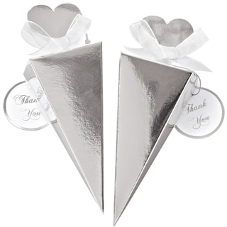 Cone Favor Kit Makes 50-Silver