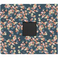 "Dear Lizzy Lucky Charm Cloth D-Ring Album 12""X12""-Floral With Window"