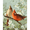 "Paint By Number Kit 16""X20""-Cardinals & Cherry Blossoms"