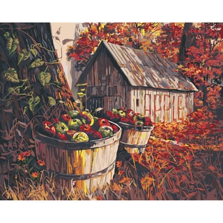 "Paint By Number Kit 16""X20""-Apple Harvest Barn"