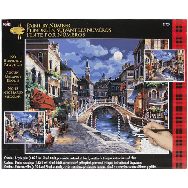 """Paint By Number Kit 16""""X20""""-Venice At Night"""