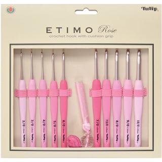 Tulip Etimo Rose Crochet Hook Set-10 Hooks/Scissors/Yarn Needles/Case