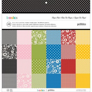 "Basics Medium Weight Paper Pad 12""X12"" 48/Sheets-Single-Sided Designs/1 Each"