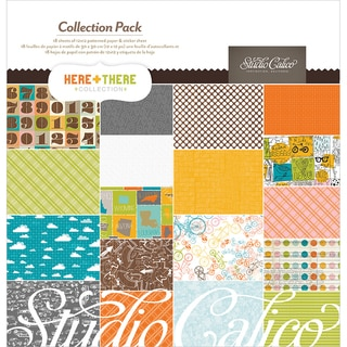 "Here & There Collection Pack 12""X12""-18 Papers + Sticker Sheet"