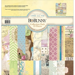 C'est La Vie Collection Pack 12X12in-18 Double-Sided Papers + Sticker Sheet