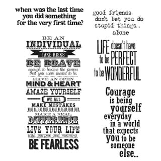 Tim Holtz Cling Rubber Stamp Set-Way With Words