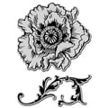 Stampendous Jumbo Cling Rubber Stamp-Poppy