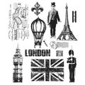 Tim Holtz Large Cling Rubber Stamp Set-Paris To London