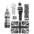 Tim Holtz Cling Rubber Stamp Set-London Sights