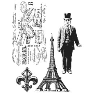 Tim Holtz Cling Rubber Stamp Set-Paris Memoir