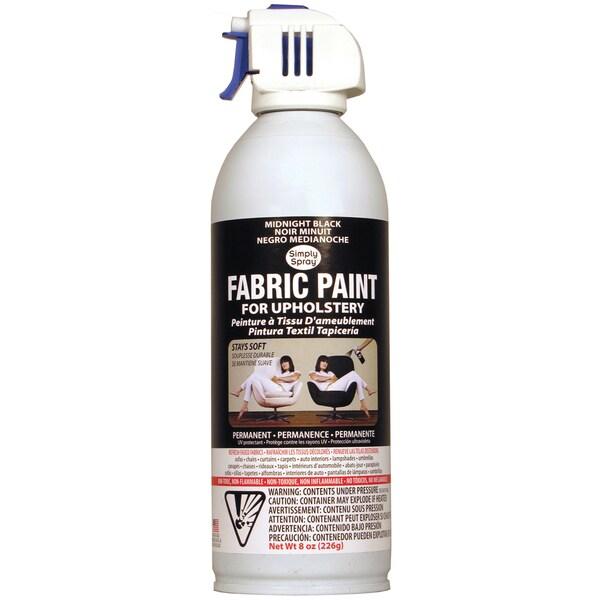 Upholstery Spray Fabric Paint 8 Ounces-Midnight Black
