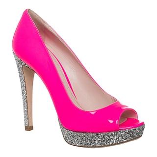 Miu Miu Women's Glitter Pink Platform Pumps