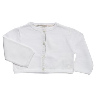 Burberry Girl's White Button-front Cardigan