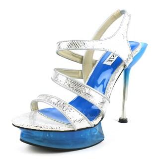 Celeste Women's 'Camilia-02' Two-tone Glitter Strap Platform Heels