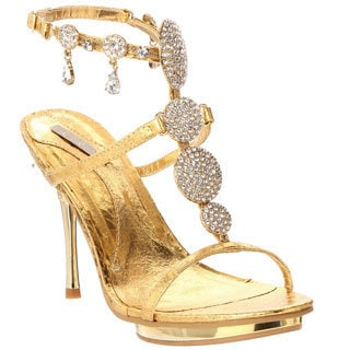 Celeste Women's 'Joyce-03' Rhinestone Encrusted Stiletto Sandals