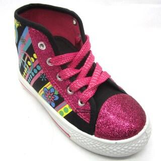 Blue Children's 'K-Wonda' Glitter Sneakers