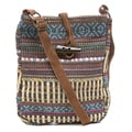 Blue Multi Woven Passport Bag