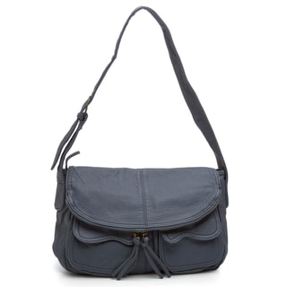 Zip-flap Chambray Handbag