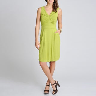 Lennie for Nina Leonard Women's Citrus Knot Front Dress