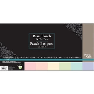 Cricut Paper Pad 12X24IN 24 Sheets-Pastel