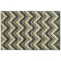 Blue Chevron Anti-Fatigue Rug (2'6 x 3'9)