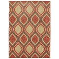 Modern Ogee Dusty Rose Rug (5' x 7')