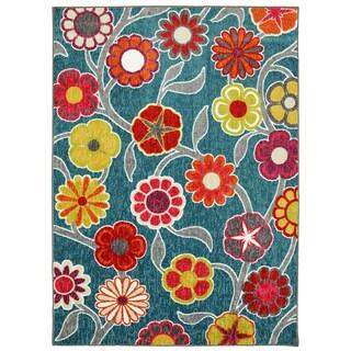 Kaleidoscope Floral Rug (5' x 7')