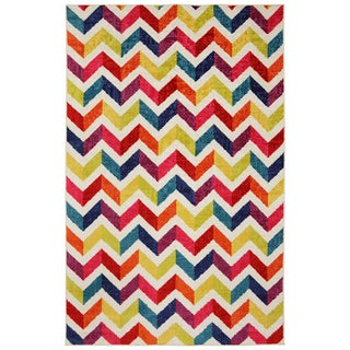 Mohawk Home Off-set Chevron Multi Rug (8' x 10')