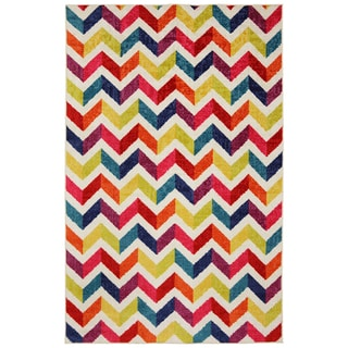 Off-set Chevron Multi Rug (8' x 10')