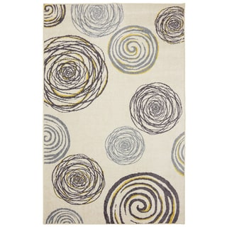 Mohawk Home Spirals Yellow Rug (8' x 10')