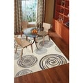 Spirals Yellow Rug (8&#39; x 10&#39;)