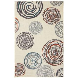 Spirals Orange Rug (5' x 8')