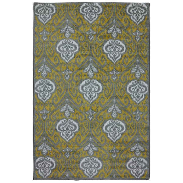 Mohawk Home Yellow Ikat Rug (8' x 10')