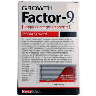 Novex Biotechs Growth Factor-9 Hormone Antecedent Supplement (120 Capsules)