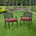 Black Solid Cast Aluminum Patio Dining Chairs (Set of 2)