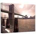 Linda Parker 'Brooklyn Bridge at Sunset' Gallery-Wrapped Canvas