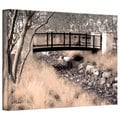 Linda Parker 'Bridge Over Wash' Gallery-Wrapped Canvas