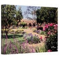 Linda Parker 'Gardens of Mission San Juan Capistrano II' Gallery-Wrapped Canvas