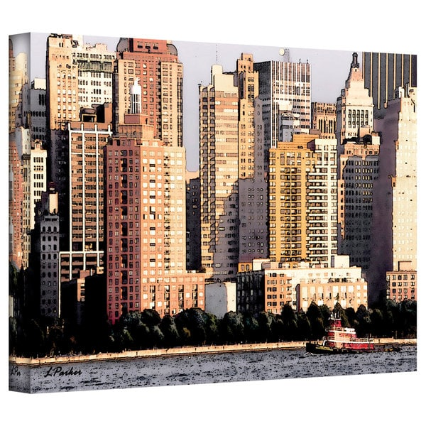 Linda Parker 'Tug Boat at the Battery, NYC' Gallery-Wrapped Canvas