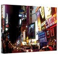 Linda Parker 'NYC Bright Lights Broadway' Gallery-Wrapped Canvas