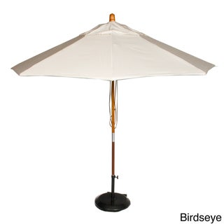 Phat Tommy Marenti Wood Market 9-foot Sunbrella Patio Umbrella