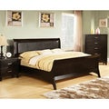 Vornado Contemporary Espresso Leatherette Sleigh Bed