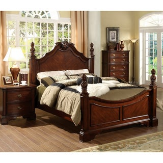 Furniture of America Luxi Kenji Formal Dark Cherry Bed